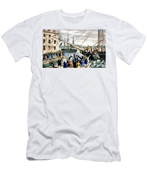 The Destruction Of Tea At Boston Men's T-Shirt (Athletic Fit)