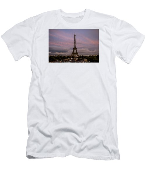 The Eiffel Tower At Sunset Men's T-Shirt (Athletic Fit)