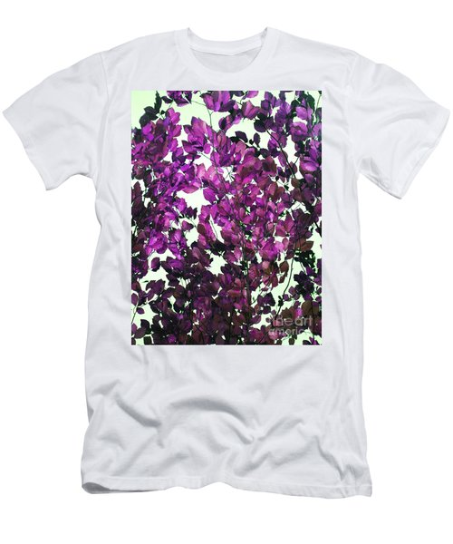 Men's T-Shirt (Slim Fit) featuring the photograph The Fall - Intense Fuchsia by Rebecca Harman