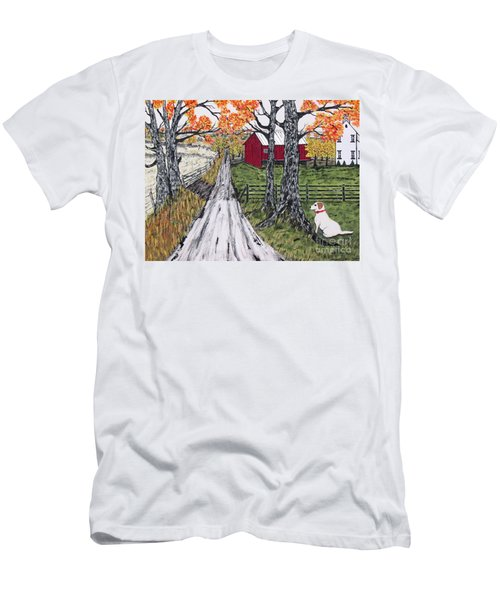 Sadie The Farm Dog Men's T-Shirt (Athletic Fit)