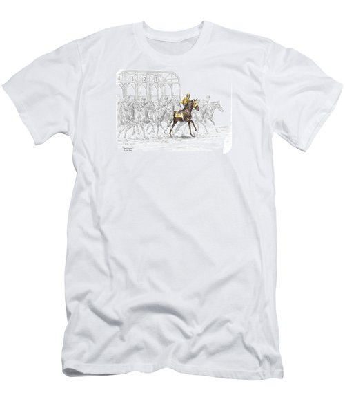 The Favorite - Thoroughbred Race Print Color Tinted Men's T-Shirt (Athletic Fit)