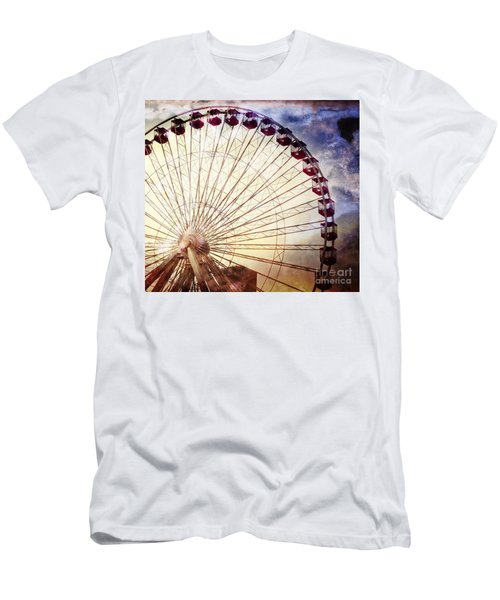 The Ferris Wheel At Navy Pier Men's T-Shirt (Athletic Fit)