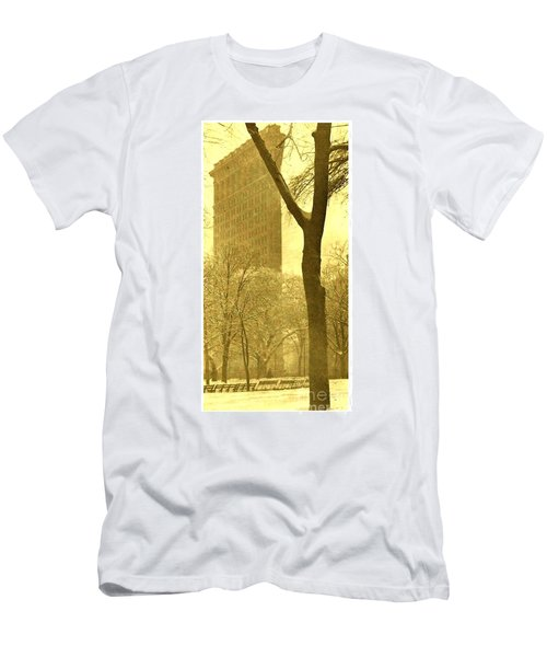 Men's T-Shirt (Athletic Fit) featuring the photograph The Flat Iron Building 1903 Alfred Stieglitz by Peter Gumaer Ogden