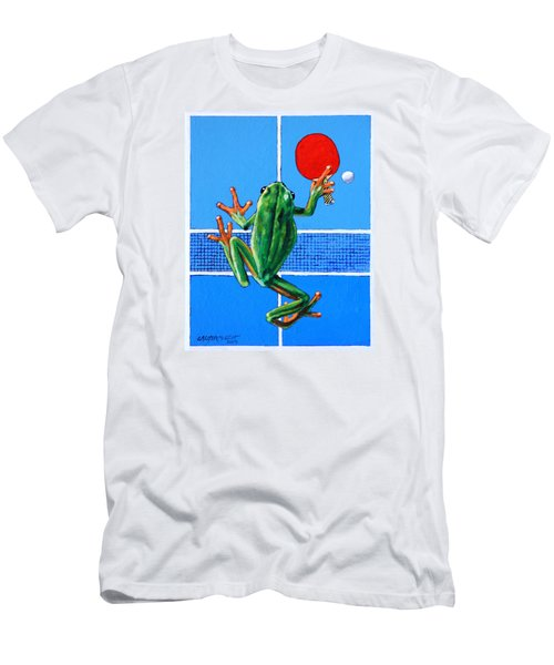 The Forehand Smash Men's T-Shirt (Slim Fit) by John Lautermilch