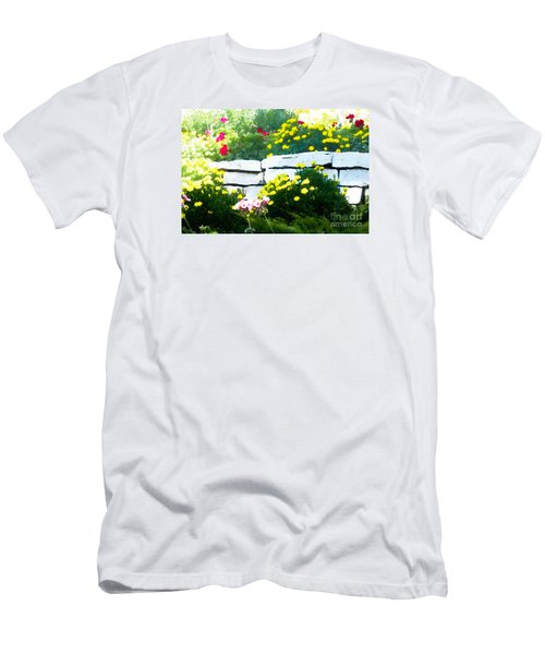 Men's T-Shirt (Slim Fit) featuring the digital art The Garden Wall by David Blank