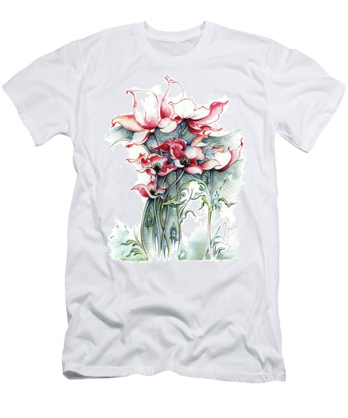 Men's T-Shirt (Slim Fit) featuring the painting The Gateway To Imagination by Anna Ewa Miarczynska