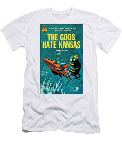 Men's T-Shirt (Slim Fit) featuring the painting The Gods Hate Kansas by Jack Thurston