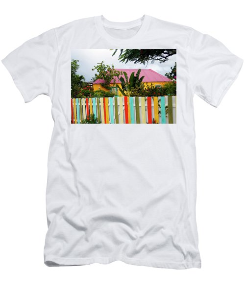 Men's T-Shirt (Slim Fit) featuring the photograph The Happy House, Island Of Curacao by Kurt Van Wagner