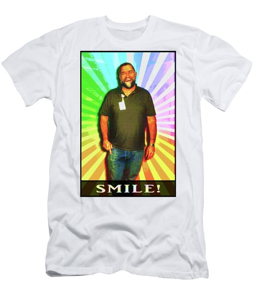 Men's T-Shirt (Athletic Fit) featuring the mixed media The Healing Smile Mosaic by Shawn Dall