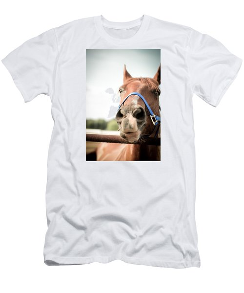 Men's T-Shirt (Slim Fit) featuring the photograph The Horse's Mouth by Kelly Hazel