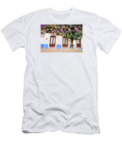 The House With The Bougainvillea Men's T-Shirt (Slim Fit) by Marwan Khoury