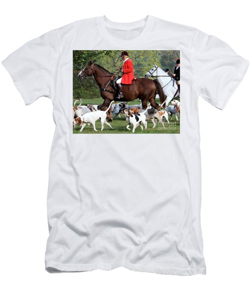Men's T-Shirt (Slim Fit) featuring the photograph The Hunt Is On by Polly Peacock