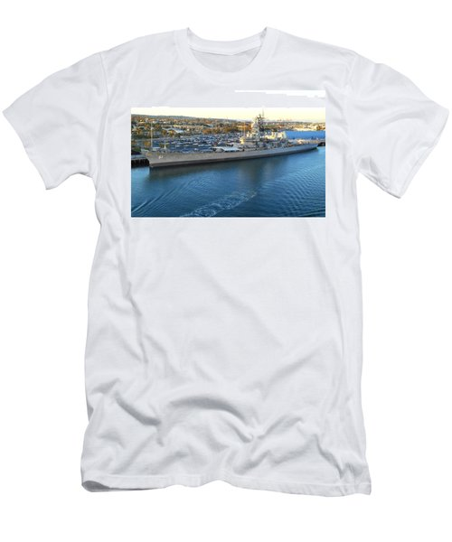 Men's T-Shirt (Slim Fit) featuring the photograph The Iowa At Sunset by Joe Kozlowski