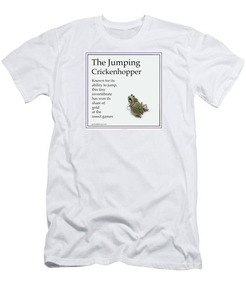 The Jumping Crickenhopper Men's T-Shirt (Slim Fit) by Graham Harrop
