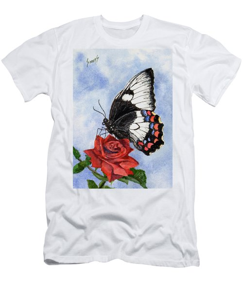 Men's T-Shirt (Athletic Fit) featuring the painting The Keeper Of The Rose by Sam Sidders