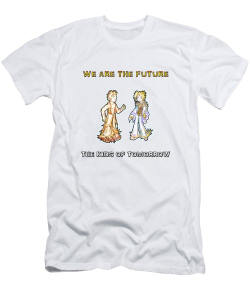 Men's T-Shirt (Athletic Fit) featuring the digital art The Kids Of Tomorrow Corie And Albert by Shawn Dall