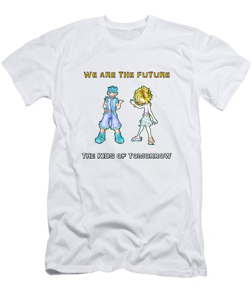 Men's T-Shirt (Athletic Fit) featuring the digital art The Kids Of Tomorrow Toby And Daphne by Shawn Dall