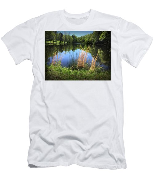 The Lake At Musgrove Mill Men's T-Shirt (Slim Fit) by Kelly Hazel