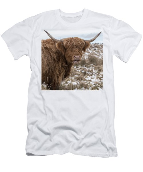 The Laughing Cow, Scottish Version Men's T-Shirt (Slim Fit) by Jeremy Lavender Photography