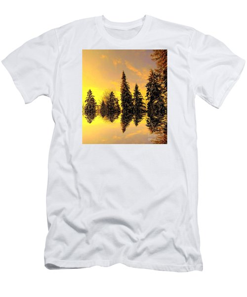 Men's T-Shirt (Slim Fit) featuring the photograph The Light by Elfriede Fulda
