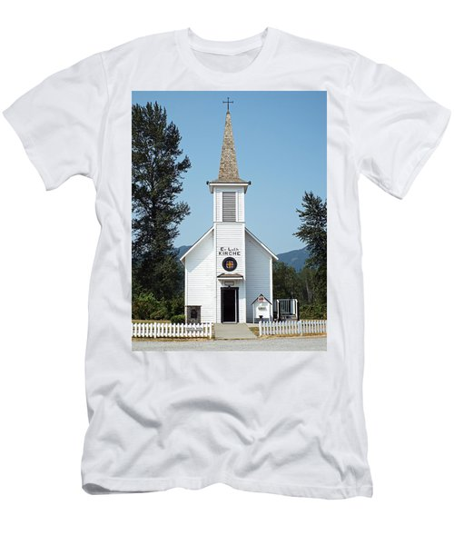 The Little White Church In Elbe Men's T-Shirt (Athletic Fit)