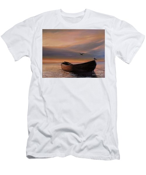 A Lone Boat Men's T-Shirt (Athletic Fit)