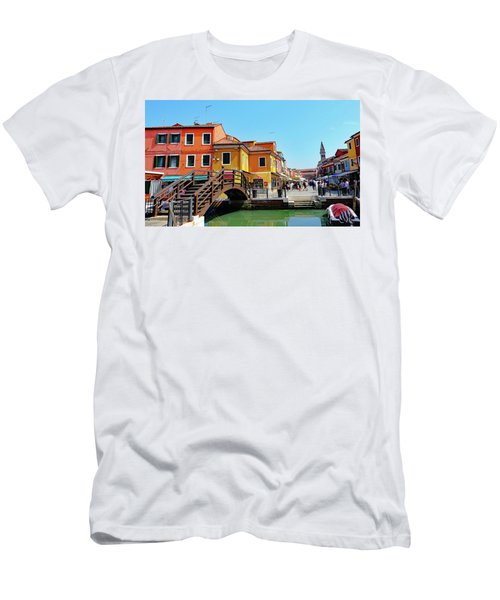 The Main Street On The Island Of Burano, Italy Men's T-Shirt (Athletic Fit)