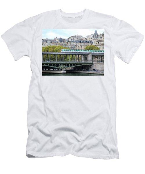 The Metro On The Bridge Men's T-Shirt (Slim Fit) by Yoel Koskas