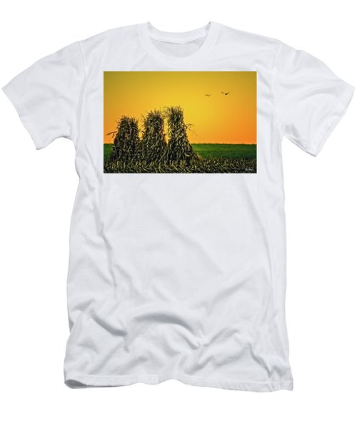 Men's T-Shirt (Slim Fit) featuring the photograph The Migration Of Summer by Skip Tribby