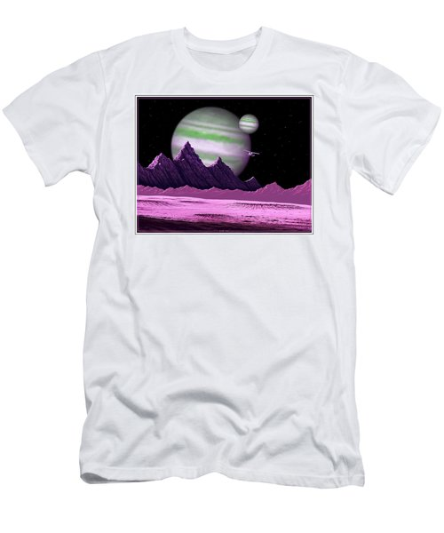 The Moons Of Meepzor Men's T-Shirt (Slim Fit) by Scott Ross