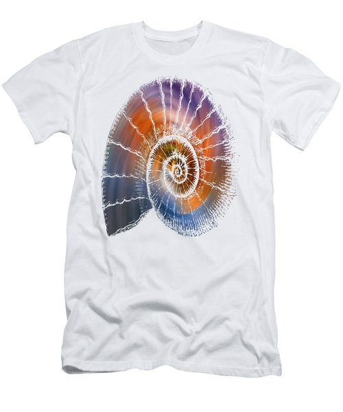 The Nautilus Shell  Transparent Men's T-Shirt (Athletic Fit)