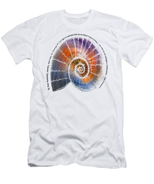 The Nautilus Shell Transparent -  Quote Men's T-Shirt (Athletic Fit)
