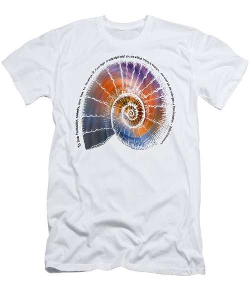 The Nautilus Shell Transparent -  Quote Men's T-Shirt (Athletic Fit)