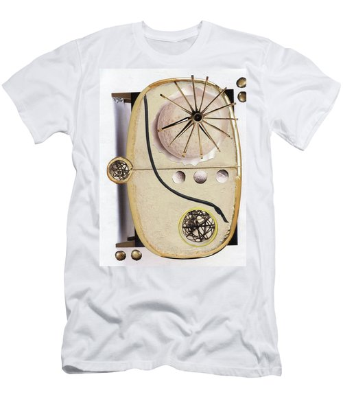 Men's T-Shirt (Slim Fit) featuring the painting The Navigator by Michal Mitak Mahgerefteh