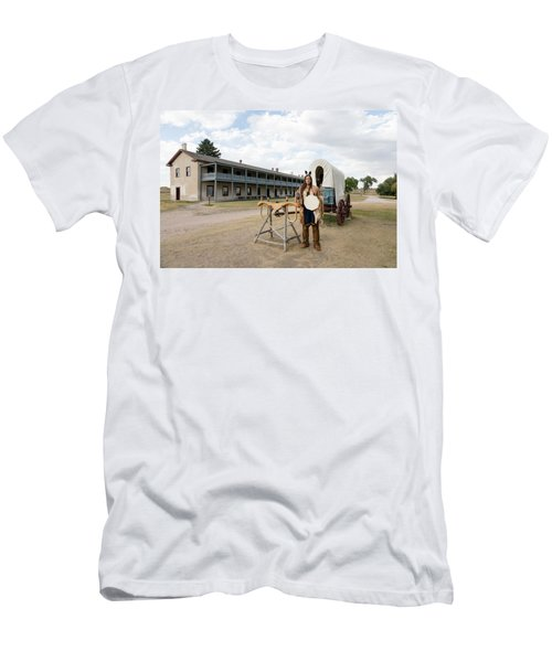 Men's T-Shirt (Slim Fit) featuring the photograph The Old Cavalry Barracks At Fort Laramie National Historic Site by Carol M Highsmith