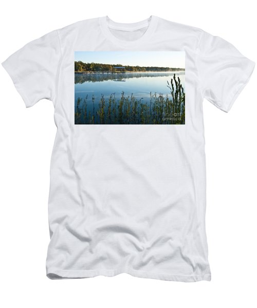 Men's T-Shirt (Slim Fit) featuring the photograph The Old Fishing Pier by Tamyra Ayles