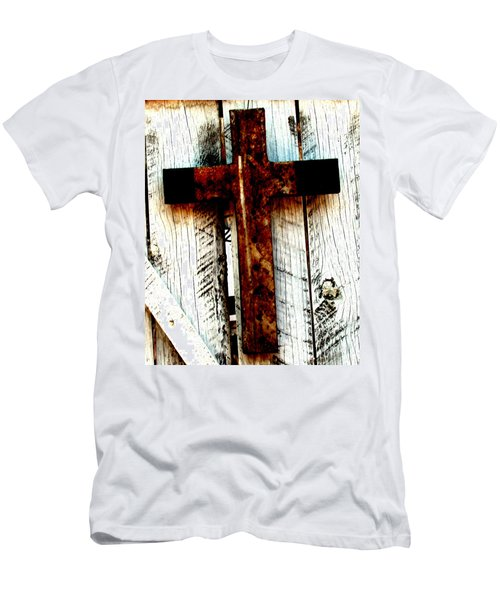 The Old Rusted Cross Men's T-Shirt (Athletic Fit)