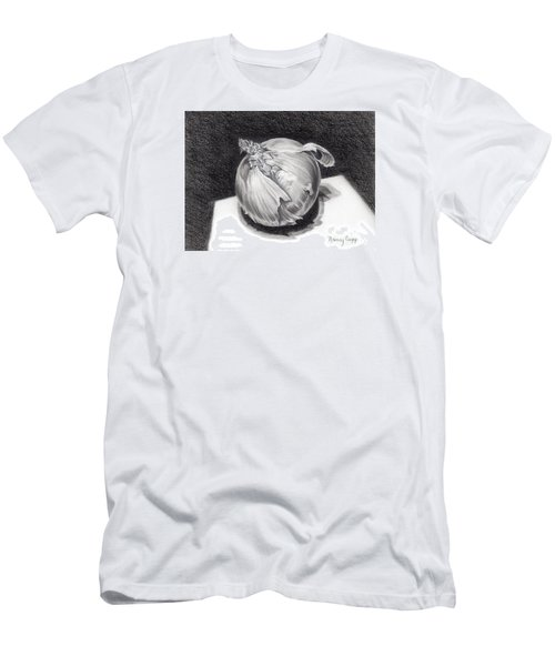 Men's T-Shirt (Athletic Fit) featuring the drawing The Onion by Nancy Cupp