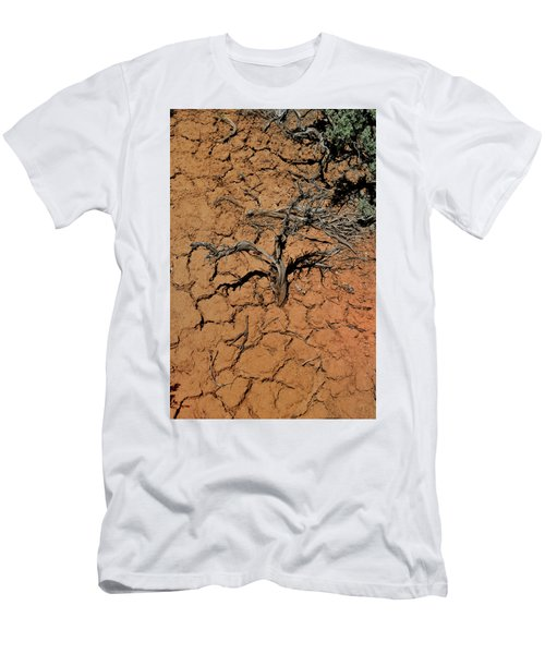 Men's T-Shirt (Athletic Fit) featuring the photograph The Parched Earth by Ron Cline