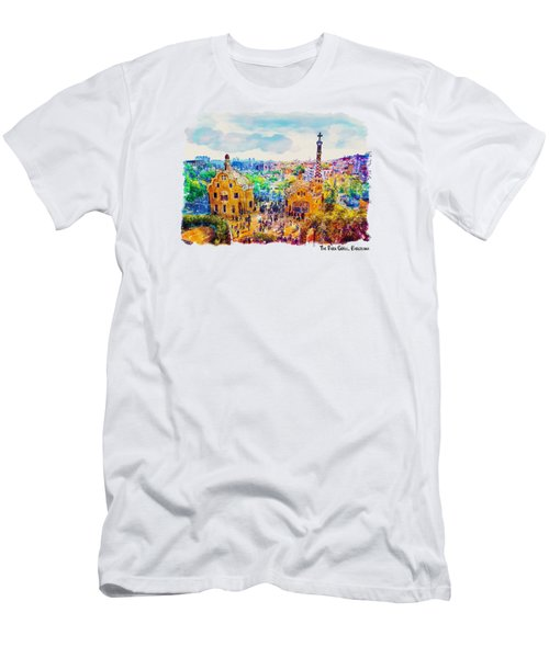 Park Guell Barcelona Men's T-Shirt (Slim Fit) by Marian Voicu