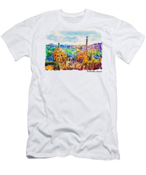 Park Guell Barcelona Men's T-Shirt (Athletic Fit)