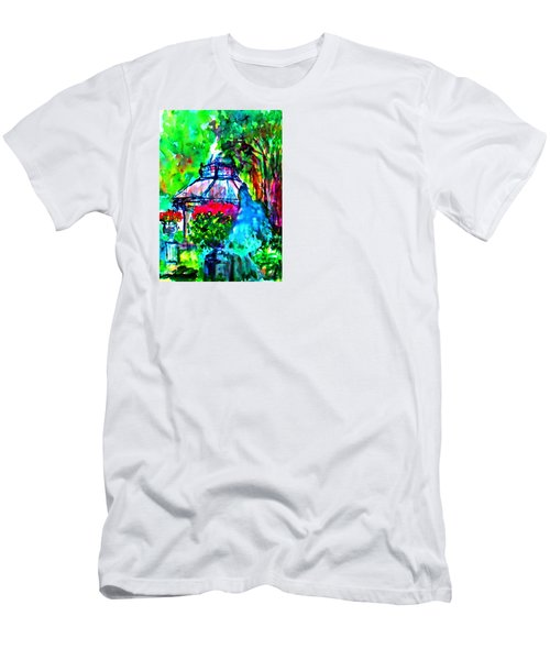 Flowers In The Park Men's T-Shirt (Athletic Fit)