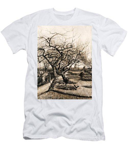The Parsonage Garden At Nuenen In Winter Men's T-Shirt (Athletic Fit)