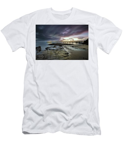 The Pier @ Lorne Men's T-Shirt (Slim Fit) by Mark Lucey