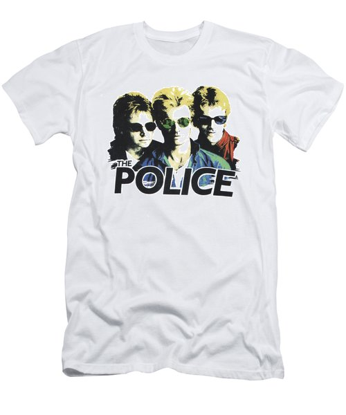 Men's T-Shirt (Slim Fit) featuring the digital art The Police by Gina Dsgn