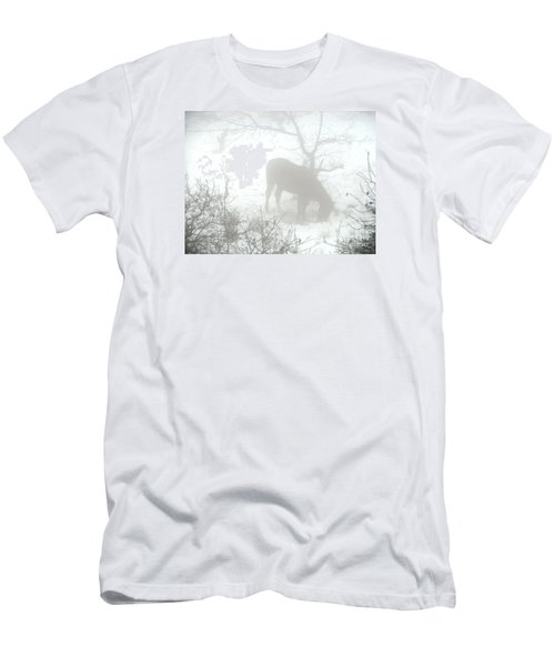 Men's T-Shirt (Slim Fit) featuring the photograph The Primal Mist by Annemeet Hasidi- van der Leij