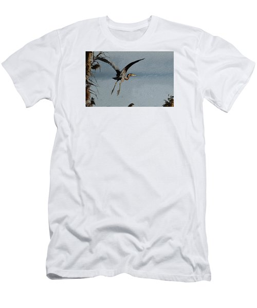 The Purple Heron Men's T-Shirt (Athletic Fit)