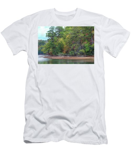 Men's T-Shirt (Athletic Fit) featuring the photograph The Radiant Shore by John M Bailey