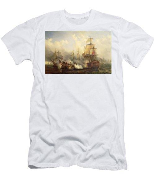 Unknown Title Sea Battle Men's T-Shirt (Athletic Fit)