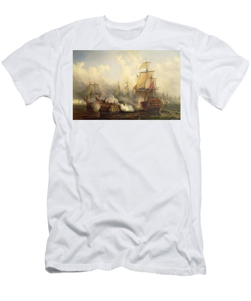 Unknown Title Sea Battle Men's T-Shirt (Athletic Fit)